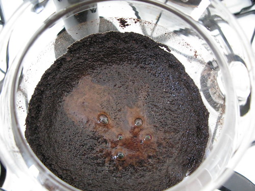 vacuum coffee grounds