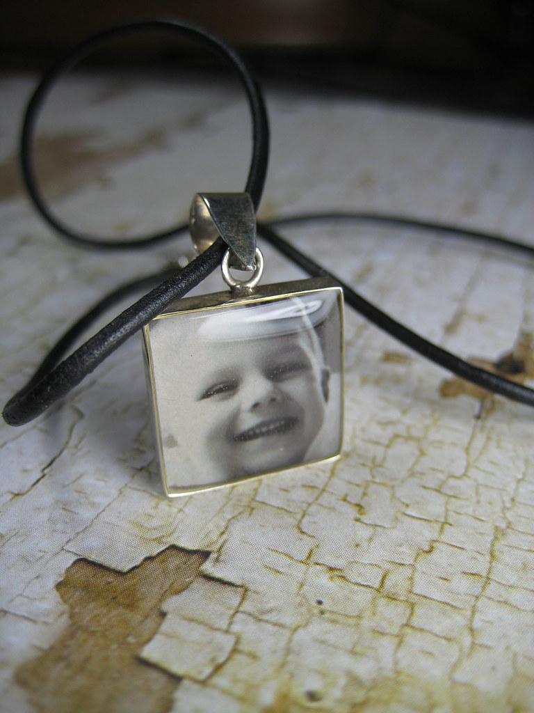 Sterling Silver Square Photo Pendant
