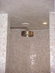 Shower in billiards room of Hawke + Hunter, Edinburgh