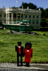 Lego President-elect Barack Obama and his wife Michelle (AP Photo/Sandy Huffaker)