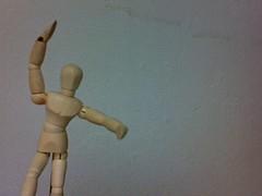 Watup dummy? (bigMancho) Tags: photobooth dummy regalo articulado