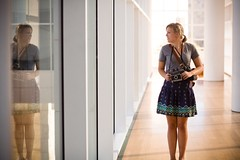 (Nathan Watkins) Tags: woman beautiful young blonde getty refelction polaroidcamera