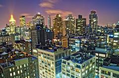 water tanks (mudpig) Tags: nyc newyorkcity longexposure sunset ny newyork skyline night geotagged cityscape nocturnal mudpig stevekelley