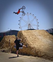 "Rockstar ""Backbone King Of Dirt"" BMX Games 09 (D3 Photography) Tags: nikon bmx rockstar sigma dry australia melbourne games superman dirt docklands bigwheel 2009 jumps d3 50mmf14 1000views waterrestrictions seatgrab waterban"