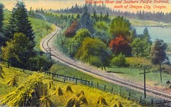Willamette River and Southern Pacific Railroad...