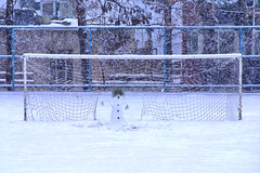 Goalkeeper Snowman, in Football Field of Shahid Beheshti University, Tehran, Iran (Persia) (eshare) Tags: snow net landscape persian goal snowman iran persia snowing iranian footballfield tehran npr  iranians teheran persians goalkeeper snowyday soccerfield     evin goalkeep sonyalphadslra100      shahidbeheshtiuniversity nationaluniversityofiran 100 sal70300g   sony70300mmf4556gssm       mitohabeevans thepictureshowblog