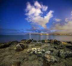 The Cloud (Ryan Eng) Tags: light cloud water reflections rocks bluesky dri sigma1020mm nightexposures digitalblending nikond90 vertorama ryaneng ryausting
