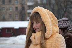 Olya (Elinalipona) Tags: street winter girls portrait people face russia moscow february russian 2009  russiangirls