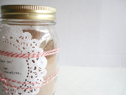 vday: hot chocolate mix.