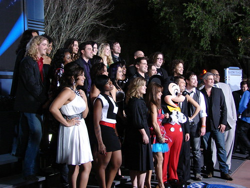 The Idols pose with MIckey, Paula and Ryan. Photo by Mark Goldhaber.