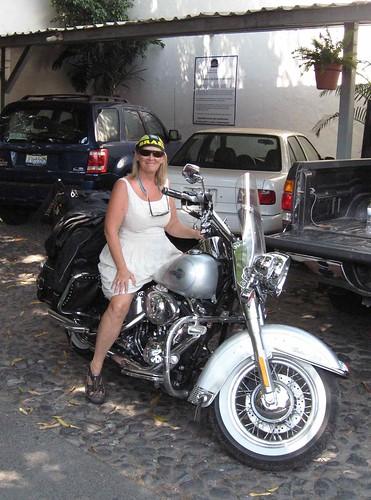 Sylvia as biker chic