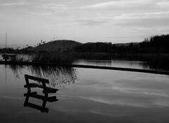 water stand in b n... (Blue Spirit - heart took control) Tags: blackandwhite bw lake water clouds reflections lago nuvole bn acqua riflessi biancoenero vicenza lagodifimon