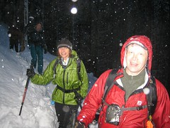BarbE and Yukon222: cold and wet but smiling