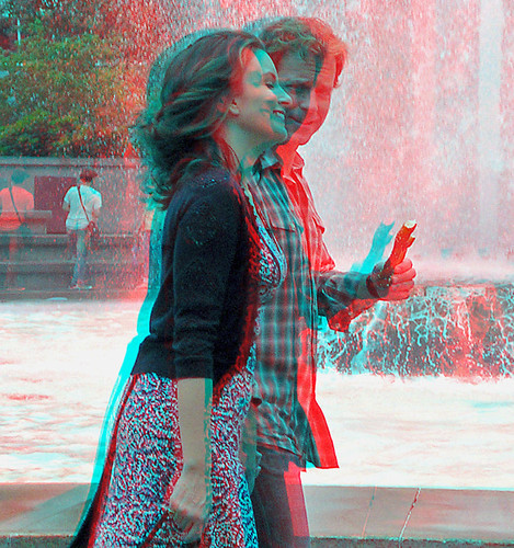 3D Photo couple red and blue