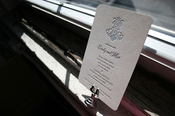 Farewell party invitation - letterpress - Smock