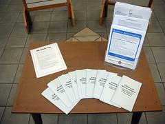 sexual assault awareness month display (table)