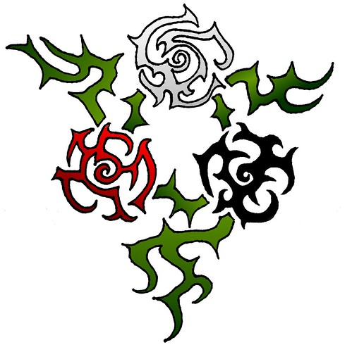 Rose Trinity · Dragon tattoo