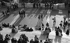 On Spanish Steps (Vidwatts) Tags: pushprocessed ilfordfp4 leicamp pushedto200 ilfordmicrophen filmdev:recipe=5200