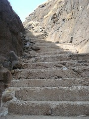 Stone stairs leading to Hanuman Hill