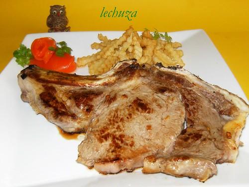 chuleta ternera gallega plato