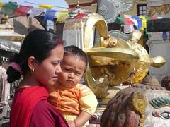 Swayambhunath, Katmandu, Nepal (balavenise) Tags: nepal shrine god buddha prayer religion buddhism katmandu dorje swayambhunath prire devnagari  flickrgiants