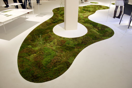 milan furniture fair 2009, sustainable design, green design, salone satellite, industrial design, furniture, lighting, eco-friendly materials, energy efficient design, best of green, Biodegradable moss planter-azuma makoto with Terramac