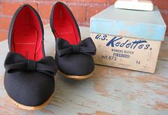 Vintage Kedettes with Box (moxie-girl) Tags: vintage shoes ebay estate 1940s moxie 40s kedettes