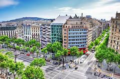 Passeig de Grcia (Faddoush) Tags: barcelona travel de spain nikon europe cityscape espana hdr passeig grcia d90 faddoush