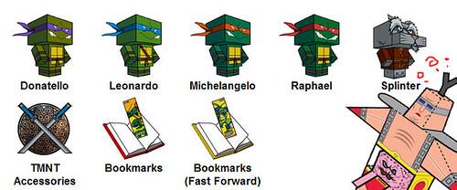 TMNT Vs. KRANG PAPERCRAFT [[ Courtesy of 4kids & Paperfoldables ]]