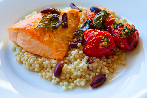 skunnmd: Salmon with Pearl Couscous, Slow-Roasted Tomatoes ...