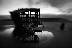 Dance of the Iredale (LukeOlsen) Tags: usa lensbaby oregon sunrise 3g shipwreck wreck lensbabies peteriredale iredale lukeolsen
