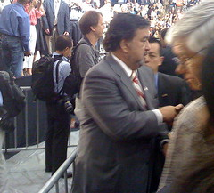 Richardson leaving Obama event