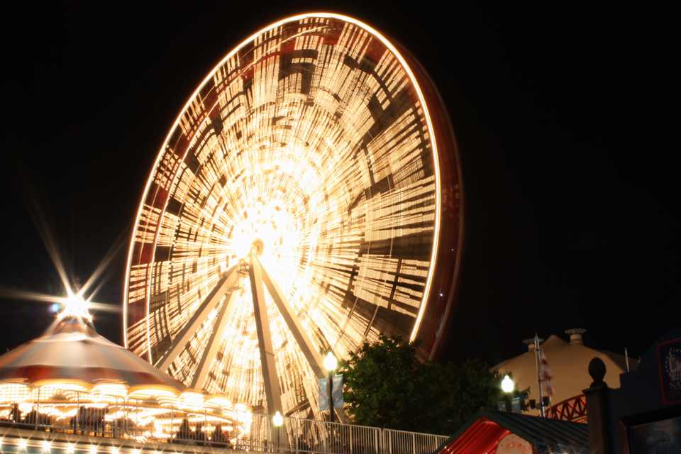 ferris wheel with tripod