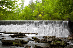 Hendersonville Reservoir Dam (David Hopkins Photography) Tags: longexposure water stone river waterfall nc log rocks whitewater dam northcarolina pisgahnationalforest hendersoncounty reservoirroad northmillsriver hendersonvillereservoir davidhopkinsphotography ncpedia