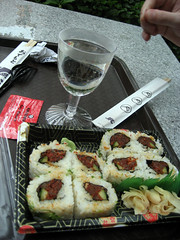 sushi and saki from japan