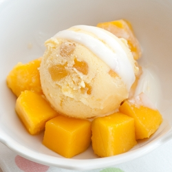 Mango, Ginger & Lemongrass Yogurt Ice-Cream
