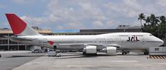Boeing 747-400 (sfPhotocraft) Tags: japan plane jet honolulu 2009 boeing747 747 jumbojet jal hnl widebody boeing747400 ja8079 japanairllines