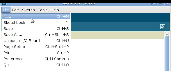 Arduino File New
