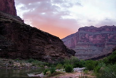 Sunset above Crystal - Grand Canyon (Al_HikesAZ) Tags: park camping sunset arizona nationalpark whitewater quote grandcanyon grand canyon rafting national coloradoriver azra inthecanyon  grandcanyonnationalpark gcnp innergorge  crystalrapid azwexplore alhikesaz azwsunset   gc2009 belowtherim arizonaraftadventures