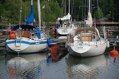 Boat Butts (Let Ideas Compete) Tags: city reflection sailboat reflections boats toys town dock barco barcos sweden rich sails swedish quay mast sailboats docked scandinavia masts rigging sdertlje bt scandinavian wealth sloop segelbt btar sdertalje sodertalje