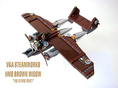 HMS Brown Widow by V&A Steamworks (V&A Steamworks) Tags: guy lego va steamworks steampunk northrop p61 himber