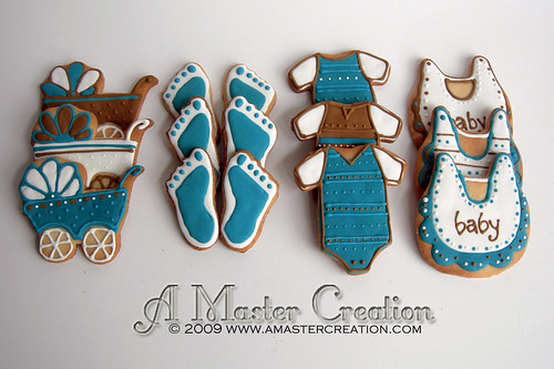 Teal & Brown baby shower-Complete set
