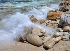 Beach Blur (Chris Snowden) Tags: sea holiday blur art beach water beautiful landscape island nikon exposure gorgeous scenic greece corfu paxos ionian d90