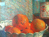 Natura morta con coppa e frutta