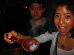 a zhou ladle the size of a full bowl (Tricia Wang ) Tags: china food mouth yummy eating jin beijing eat ge triciawang jinge