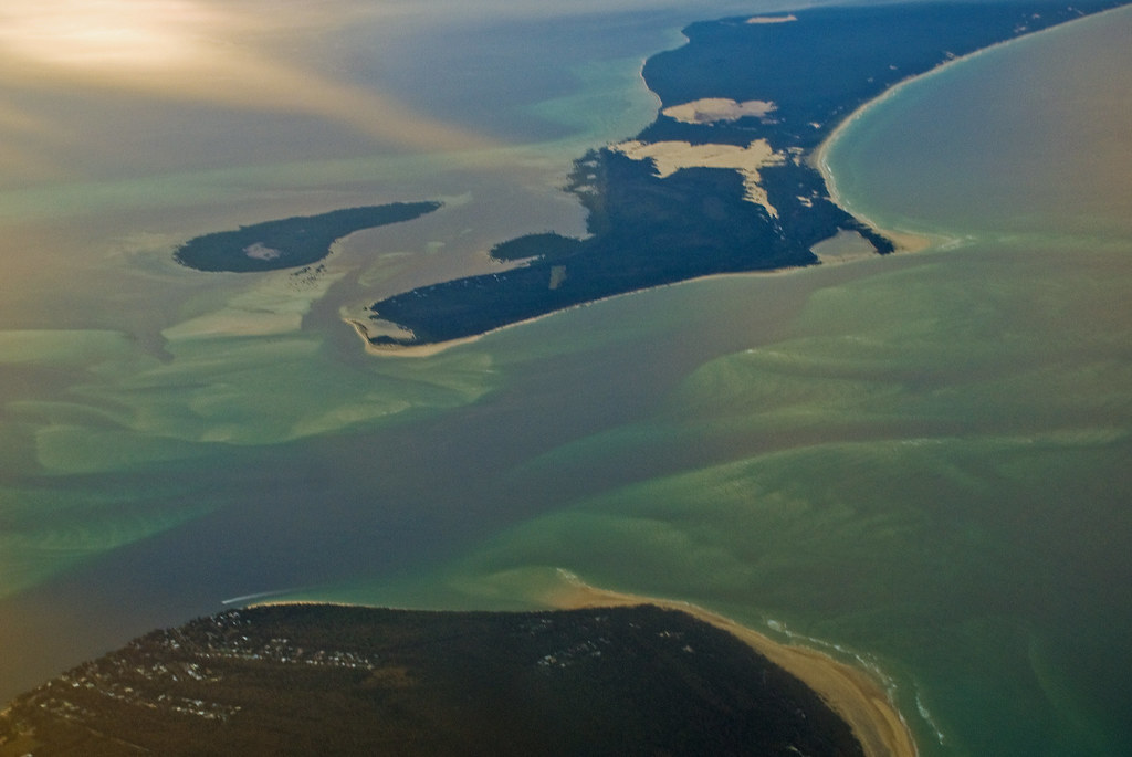 Moreton Bay from the air