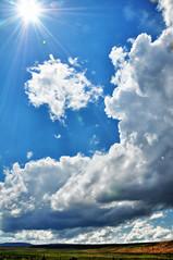 Sunburst II (NancelAnders) Tags: blue clouds landscape nevada nwn colorfulworld nikond90 martesdenubes