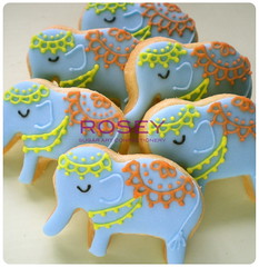 Mini Indian Elephant 2 (rosey sugar) Tags: india elephant miniature cookie decoration mini celebration piping petit royalicing sugarcraft decorativecookie
