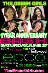 Green Girls Anniversay Bash poster