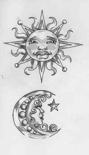 Sun And Moon Tattoos 12068 Flickr Photo Sharing